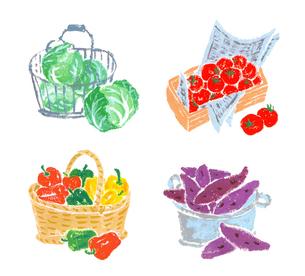 野菜いろいろのイラスト素材 [FYI02976949]