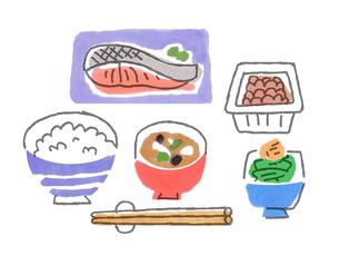 和食の朝ごはん2のイラスト素材 [FYI02976960]