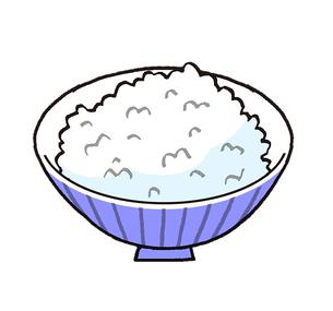 ご飯 青い茶碗のイラスト素材 [FYI02976967]