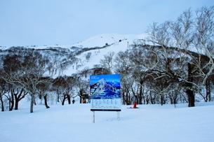 ニセコヒラフスキー場冬景色の写真素材 [FYI02977029]