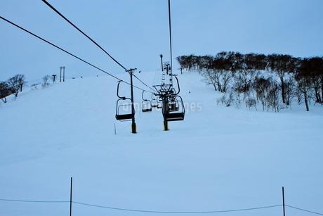 ニセコヒラフスキー場冬景色の写真素材 [FYI02977034]