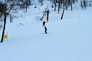 ニセコヒラフスキー場冬景色の写真素材 [FYI02977037]