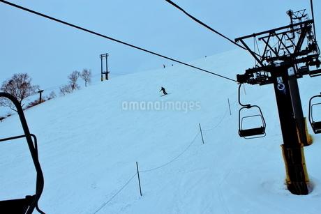 ニセコヒラフスキー場冬景色の写真素材 [FYI02977038]