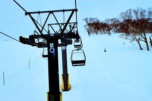 ニセコヒラフスキー場冬景色の写真素材 [FYI02977040]