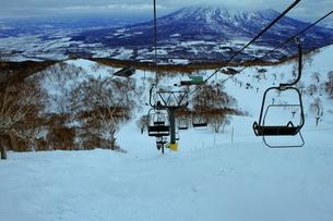 ニセコヒラフスキー場冬景色の写真素材 [FYI02977048]
