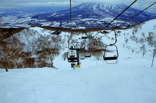 ニセコヒラフスキー場冬景色の写真素材 [FYI02977049]