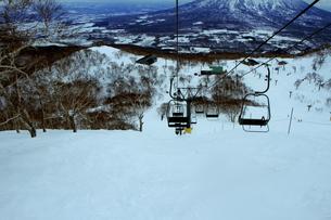 ニセコヒラフスキー場冬景色の写真素材 [FYI02977051]