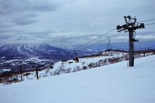 ニセコヒラフスキー場冬景色の写真素材 [FYI02977057]
