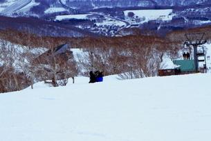 ニセコヒラフスキー場冬景色の写真素材 [FYI02977069]