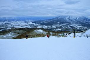 ニセコヒラフスキー場冬景色の写真素材 [FYI02977079]