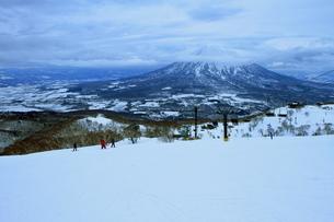 ニセコヒラフスキー場冬景色の写真素材 [FYI02977082]