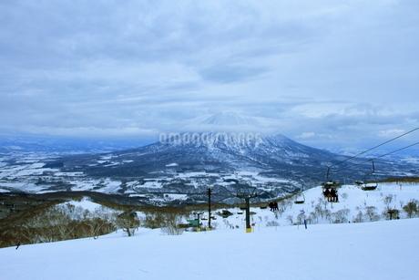 ニセコヒラフスキー場冬景色の写真素材 [FYI02977083]