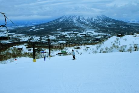 ニセコヒラフスキー場冬景色の写真素材 [FYI02977095]