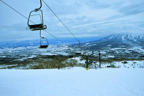 ニセコヒラフスキー場冬景色の写真素材 [FYI02977099]