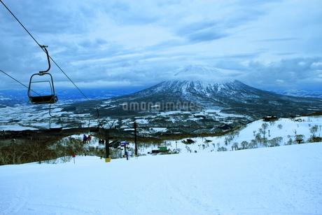 ニセコヒラフスキー場冬景色の写真素材 [FYI02977101]