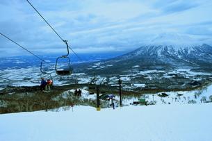 ニセコヒラフスキー場冬景色の写真素材 [FYI02977103]