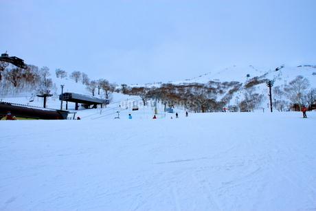ニセコヒラフスキー場冬景色の写真素材 [FYI02977121]
