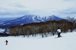 ニセコヒラフスキー場冬景色の写真素材 [FYI02977132]