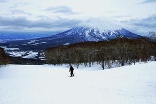 ニセコ ヒラフスキー場冬景色の写真素材 [FYI02977138]