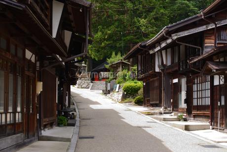 奈良井宿 町並の写真素材 [FYI02977255]