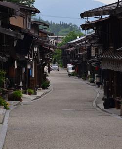 奈良井宿 町並の写真素材 [FYI02977257]