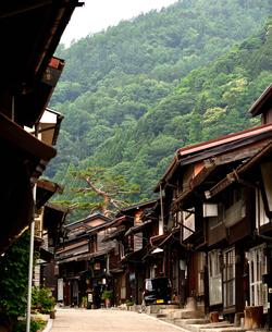 奈良井宿 町並の写真素材 [FYI02977258]