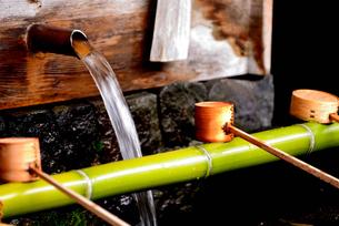 奈良井宿 水場の写真素材 [FYI02977260]