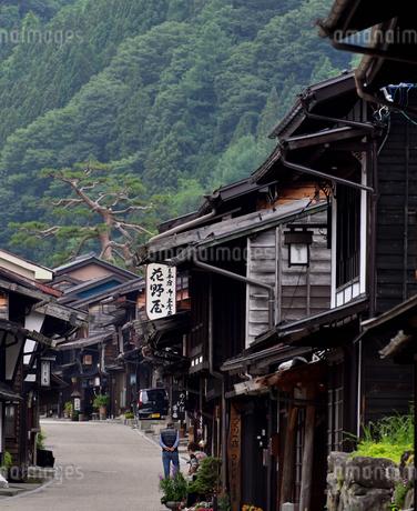 奈良井宿 町並の写真素材 [FYI02977264]
