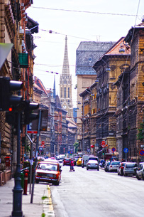 ハンガリー・ブダペストの街並みの写真素材 [FYI02977343]