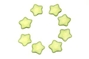 星型の胡瓜の写真素材 [FYI02977592]