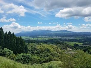 いさぶろう・しんぺいから見る霧島連峰の写真素材 [FYI02977775]