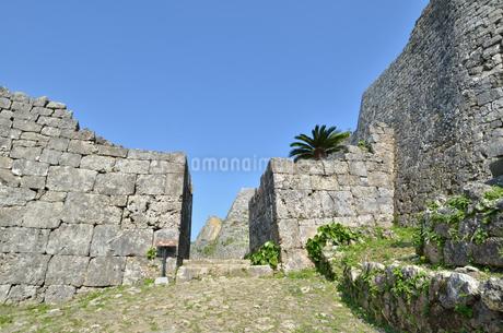 中城城跡(沖縄、世界遺産)の写真素材 [FYI02977924]