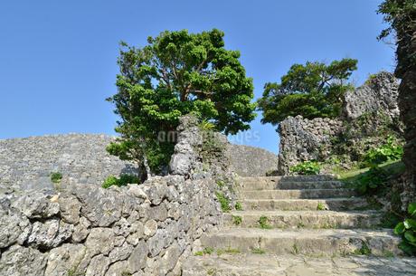 中城城跡(沖縄、世界遺産)の写真素材 [FYI02977932]