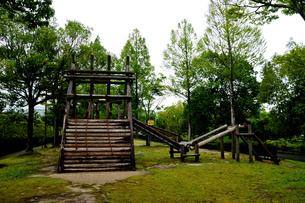 公園 木製遊具の写真素材 [FYI02978117]