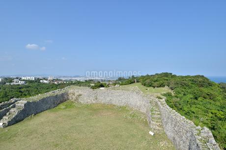 中城城跡(沖縄、世界遺産)の写真素材 [FYI02978427]