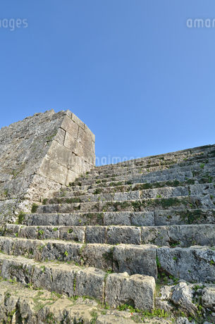 中城城跡(沖縄、世界遺産)の写真素材 [FYI02978434]