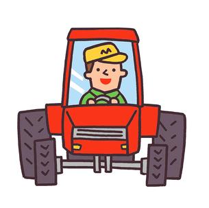 トラクターのイラスト素材 [FYI02978698]