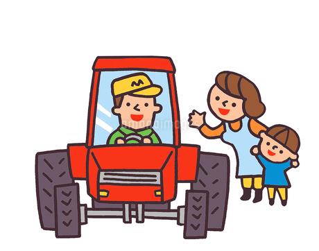 トラクターと家族のイラスト素材 [FYI02978699]