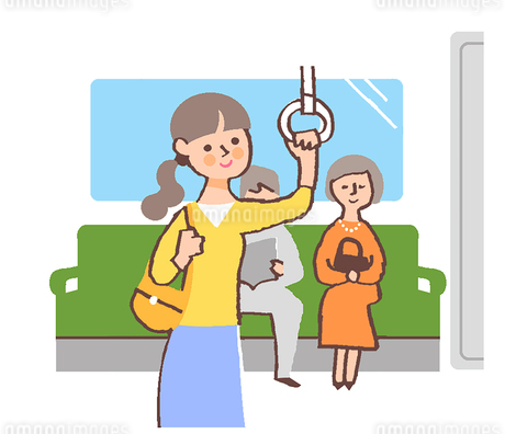 電車 女性のイラスト素材 [FYI02978713]