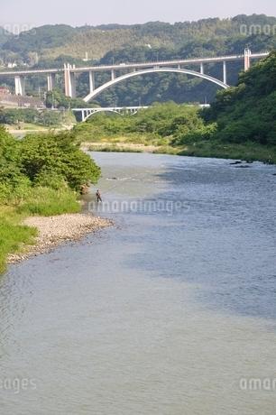 増水した相模川の写真素材 [FYI02978761]