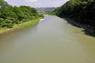 増水した相模川の写真素材 [FYI02978831]