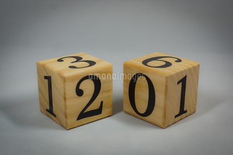 数字が書かれたブロックの写真素材 [FYI02978857]