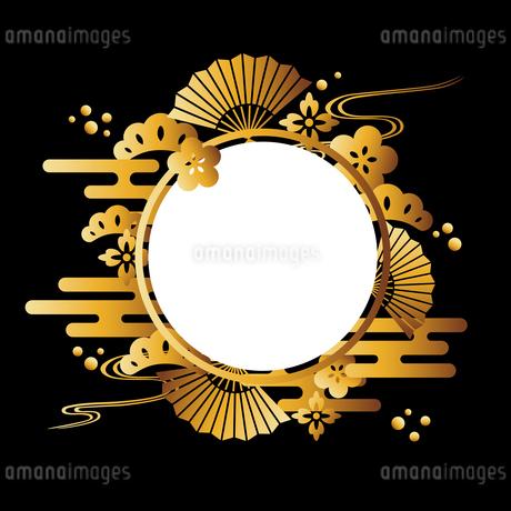 和柄 ゴールド 背景のイラスト素材 [FYI02979111]