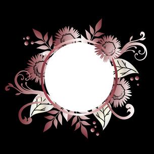 ひまわり ピンクゴールド 背景のイラスト素材 [FYI02979140]