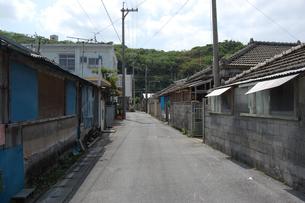 南国沖縄の田舎の町並みの写真素材 [FYI02979202]