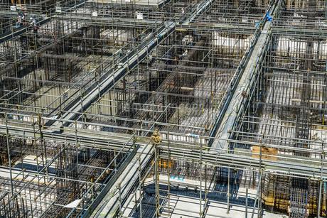 建築現場(基礎工事)のイメージの写真素材 [FYI02979326]