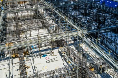 建築現場(基礎工事)のイメージの写真素材 [FYI02979327]