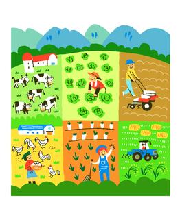 農業いろいろ 畜産 養鶏のイラスト素材 [FYI02979588]