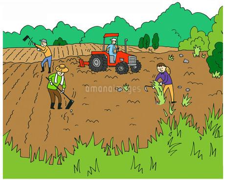 農業 耕すのイラスト素材 [FYI02979594]