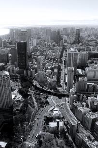 東京タワーから見た東京の町並みの写真素材 [FYI02979601]
